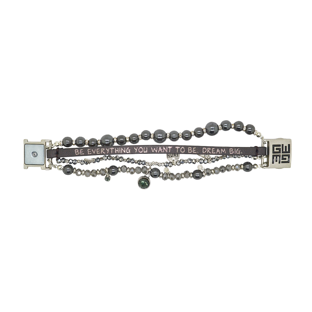 Womens Good Works Be Every Thing You Want To Be Bracelet in Metallic - Brother's on the Boulevard