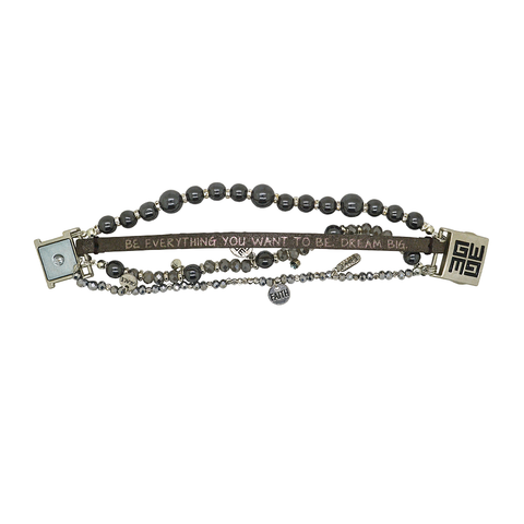 Womens Good Works Be Everything You Want To Be Bracelet in Silver - Brother's on the Boulevard