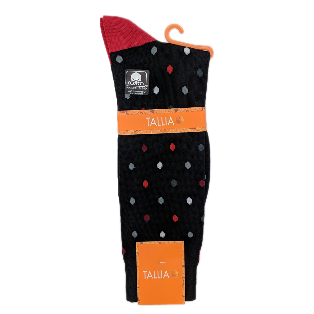 Tallia Orange Medium Dot Sock in Red