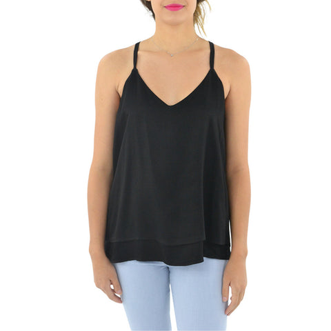 Catherine Kate Double Layered Tank in Black