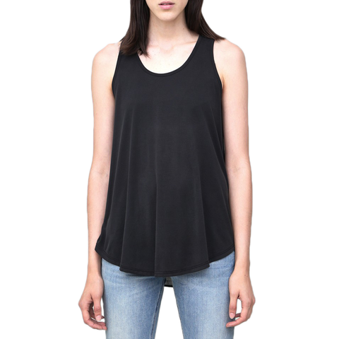 Womens Poche 1913 Tank With Layered Back in Black - Brother's on the Boulevard