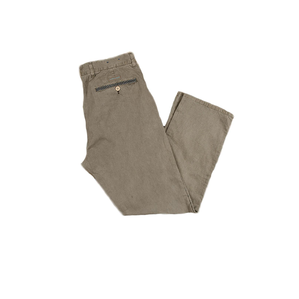 Mens Southern Marsh Seawash Grayton Twill Pant in Burnt Taupe - Brother's on the Boulevard