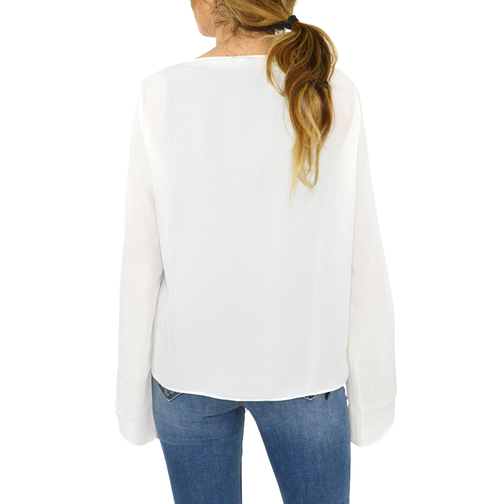 Womens Three Eighty Two Front Tie Top In Ivory - Brother's on the Boulevard