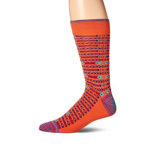 Mens Robert Graham Tintoretto Sock in Orange - Brother's on the Boulevard
