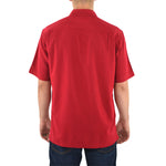 Mens Cutter & Buck UL Ragin Cajuns Short Sleeve Solana Check Shirt in Cardinal Red - Brother's on the Boulevard