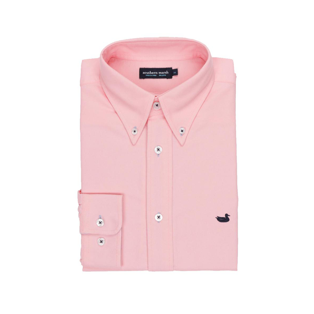 Mens Southern Marsh The University Oxford Dress Shirt in Camelia - Brother's on the Boulevard