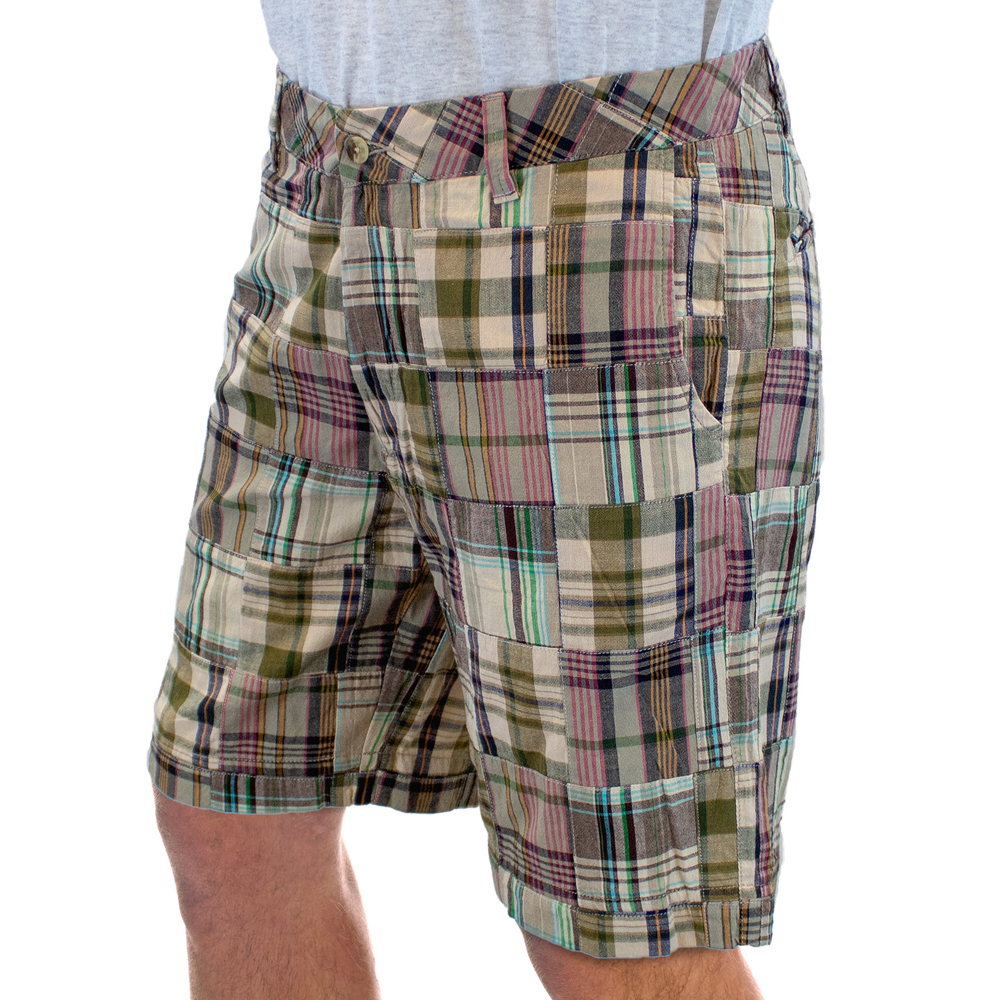 Mens Margaritaville Multi-Red Patchwork Shorts - Brother's on the Boulevard