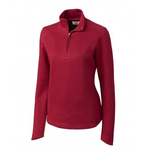 Cutter and Buck Decatur Pima Half Zip Pullover in Cardinal