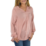 Womens PPLA Bailyn Long Sleeve Top in Dusty Rose - Brother's on the Boulevard