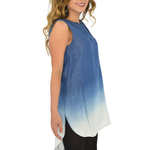 Womens NYLA Ombre Tunic in Blue - Brother's on the Boulevard