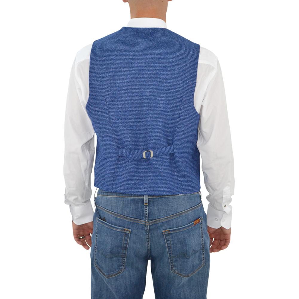 Mens Luchiano Visconti 159 Vest in Blue - Brother's on the Boulevard