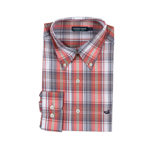 Mens Southern Marsh Duluth Plaid Dress Shirt in Mountain Purple and Coral - Brother's on the Boulevard