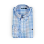 Southern Marsh Miller Gingham Dress Shirt in Burnt Taupe/ Lilac