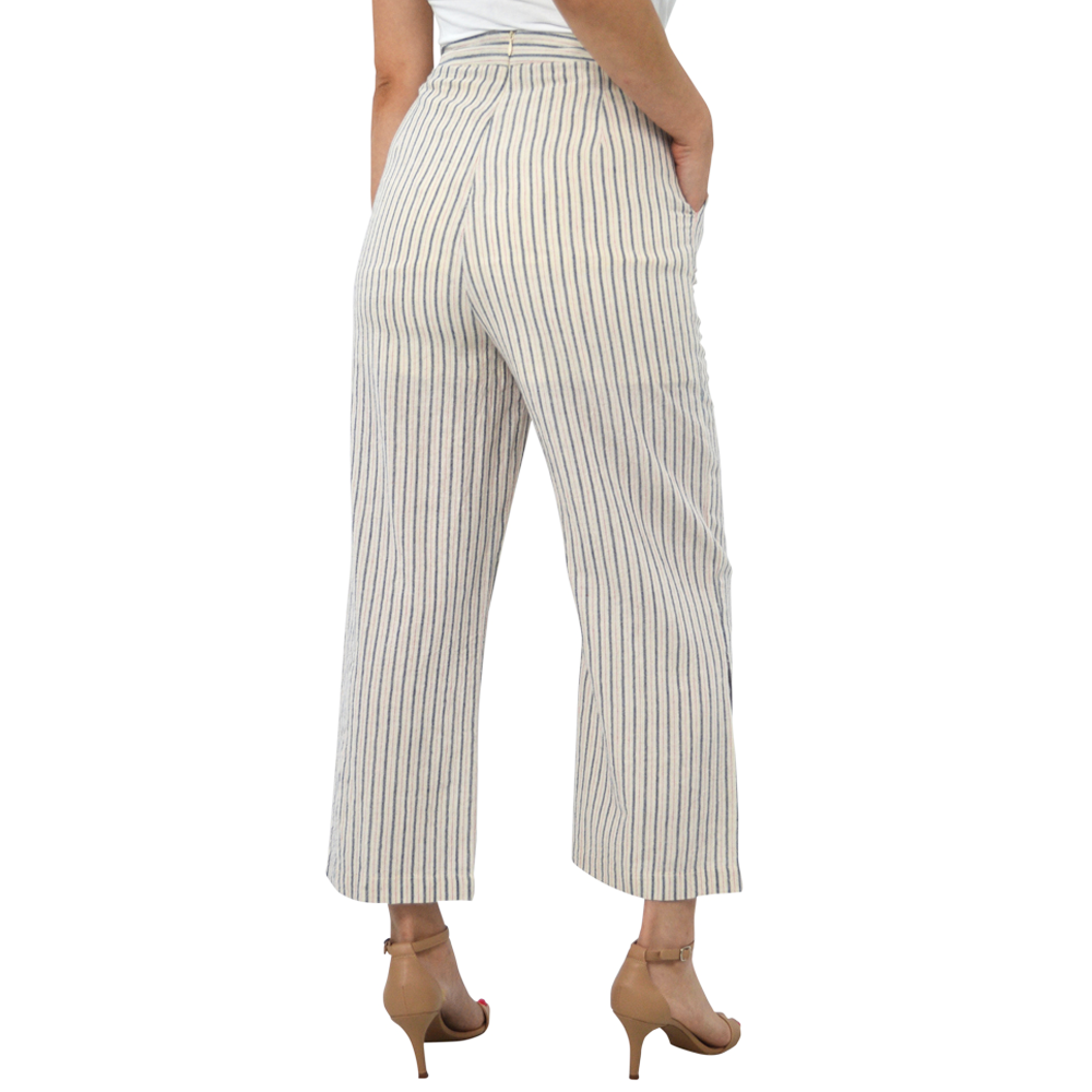 Womens Weekend Vibes Tarpon Hi Waisted Stripe Pant in Americana - Brother's on the Boulevard
