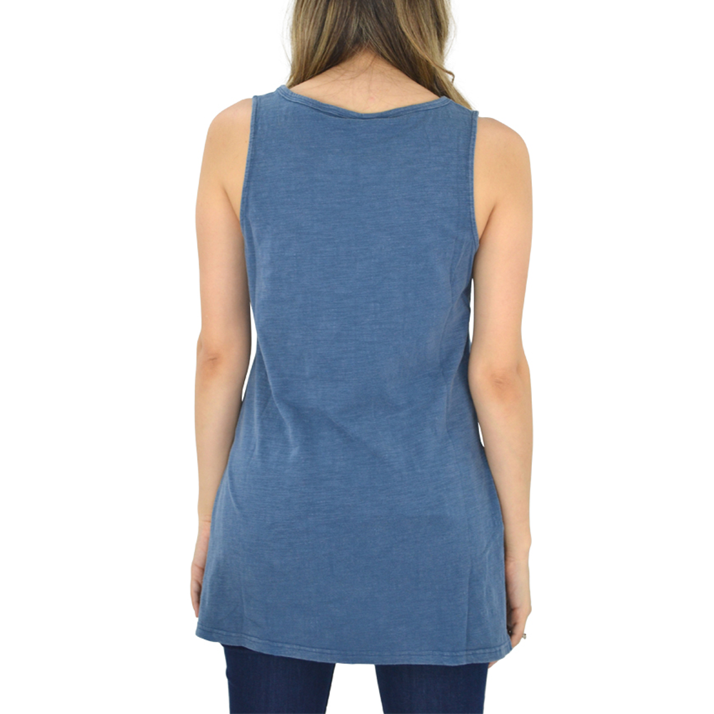 Womens Weekend Vibes Tank in Denim - Brother's on the Boulevard
