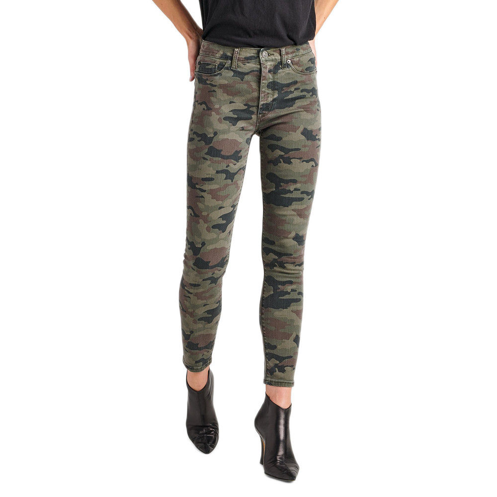 Womens Hudson Jeans Barbara High Rise Super Skinny Ankle in Deployed Camo - Brother's on the Boulevard