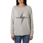 The Light Blonde Won't He Do It Sweater in Off-White