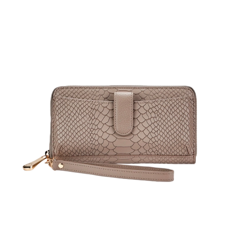 Womens GiGi New York City Wallet in Stone Embossed Python - Brother's on the Boulevard
