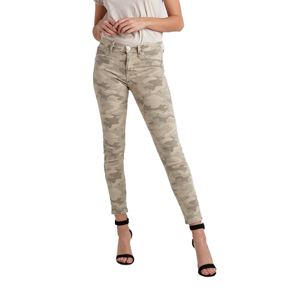Hudson Jeans Nico High Rise Ankle Skinny in Army Camo