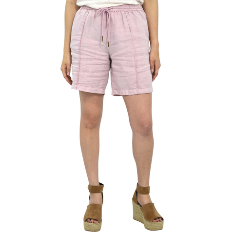 Womens Michael Stars Linen Shorts in Tickle Pink - Brother's on the Boulevard