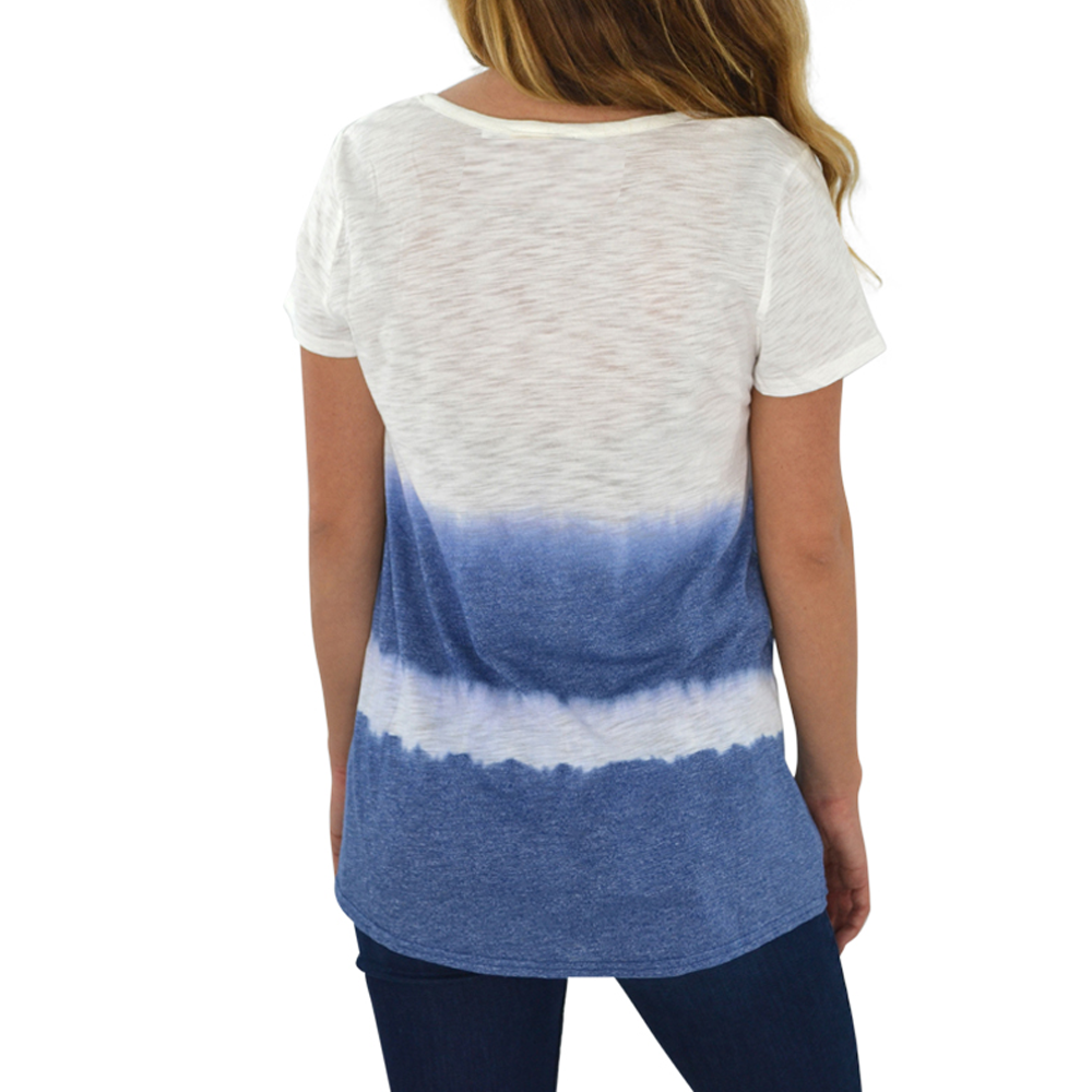 Womens Weekend Vibes Dip Dye Knit Top in Off White - Brother's on the Boulevard