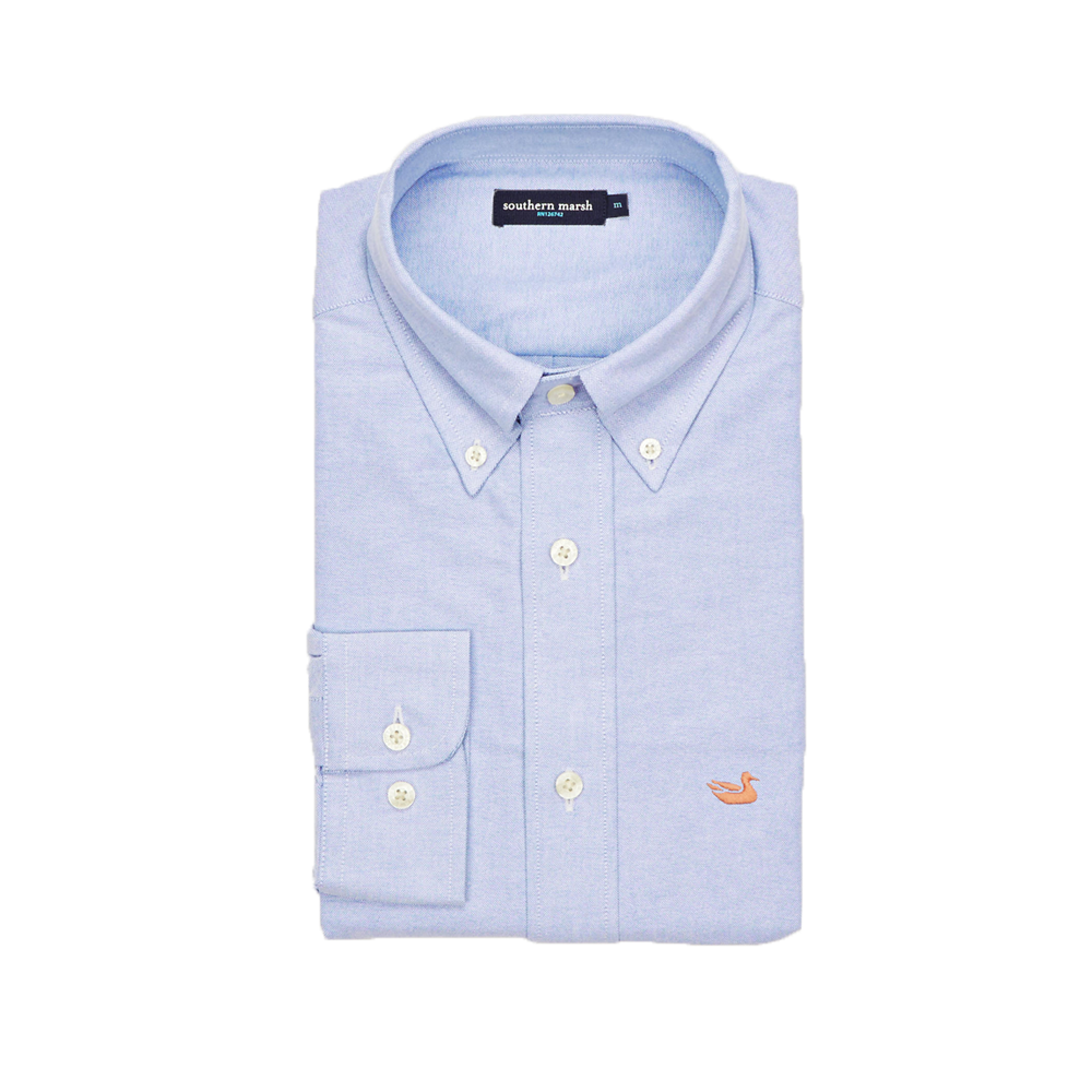 Mens Southern Marsh Classic Pintail Oxford Dress Shirt in Light Blue - Brother's on the Boulevard