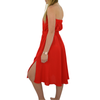 Womens Catherine Kate Off the Shoulder Dress in Scarlet - Brother's on the Boulevard