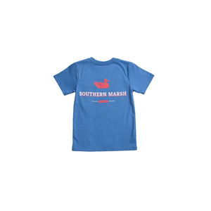 Boys Southern Marsh Youth Trademark Duck Tee in Oxford Blue - Brother's on the Boulevard