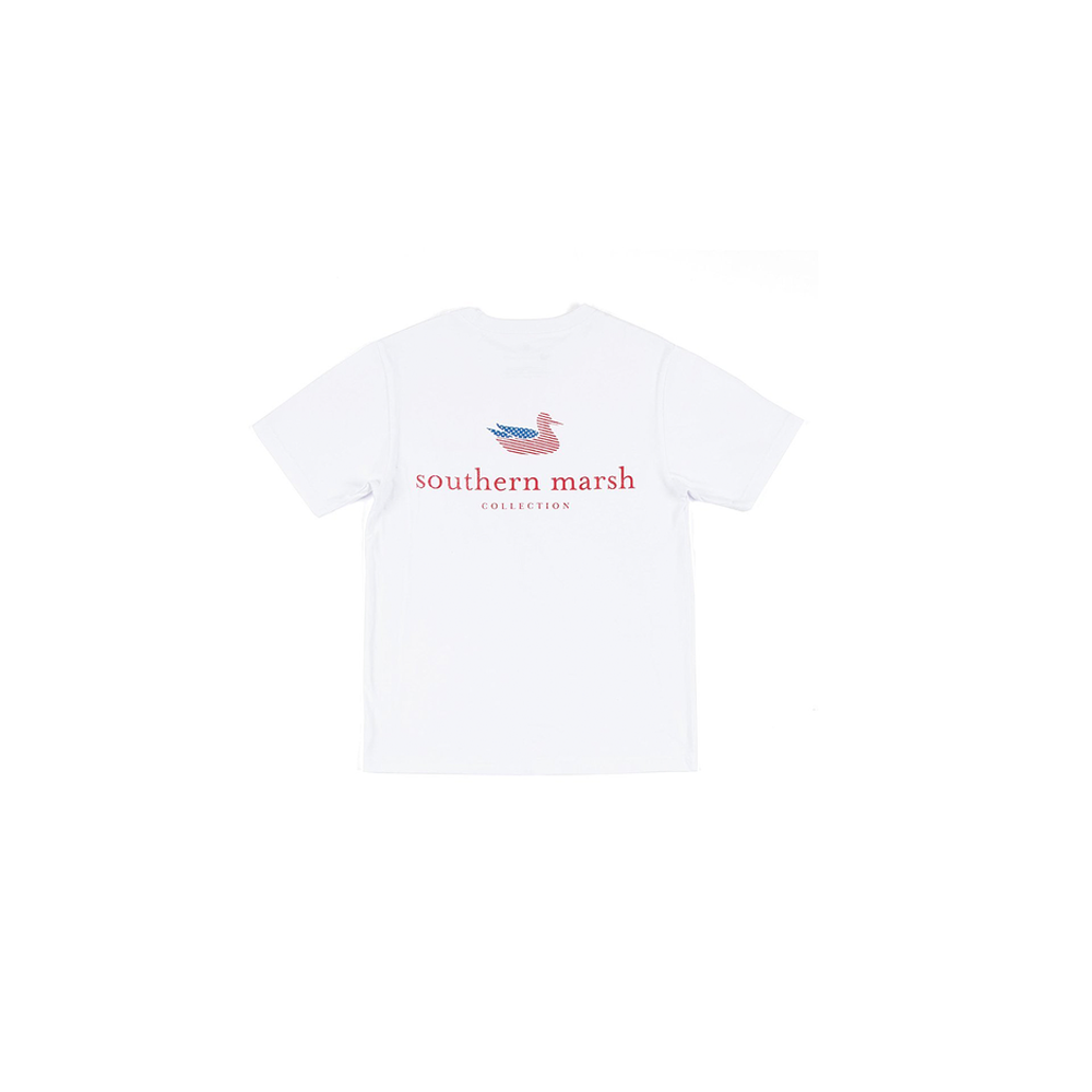Southern Marsh Youth Authentic Tee in White