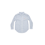 Southern Marsh Youth Cashiers Washed Gingham Dress Shirt in Slate/Sage