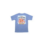 Southern Marsh Youth Shrimp Festival Tee in Washed Blue