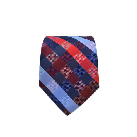 Mens Giannini Silk Neck Tie in Red and Blue - Brother's on the Boulevard