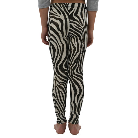 Weekend Vibes Zebra Leggings in Metallic