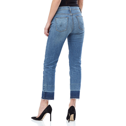 Womens Hudson Jeans Nico Midrise Ankle Super Skinny Raw Hem in Bite Back - Brother's on the Boulevard