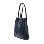 Cofi Leather Amy Tote in Navy