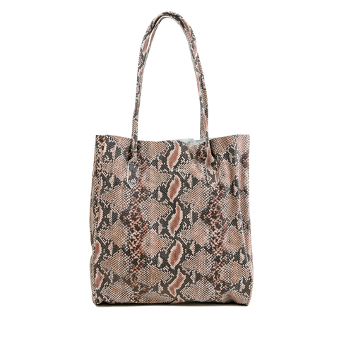 Womens Cofi Leather Amy Tote in Snake - Brother's on the Boulevard