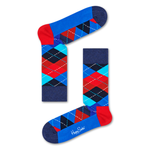 Mens Happy Socks Argyle Print in Blue and Red - Brother's on the Boulevard