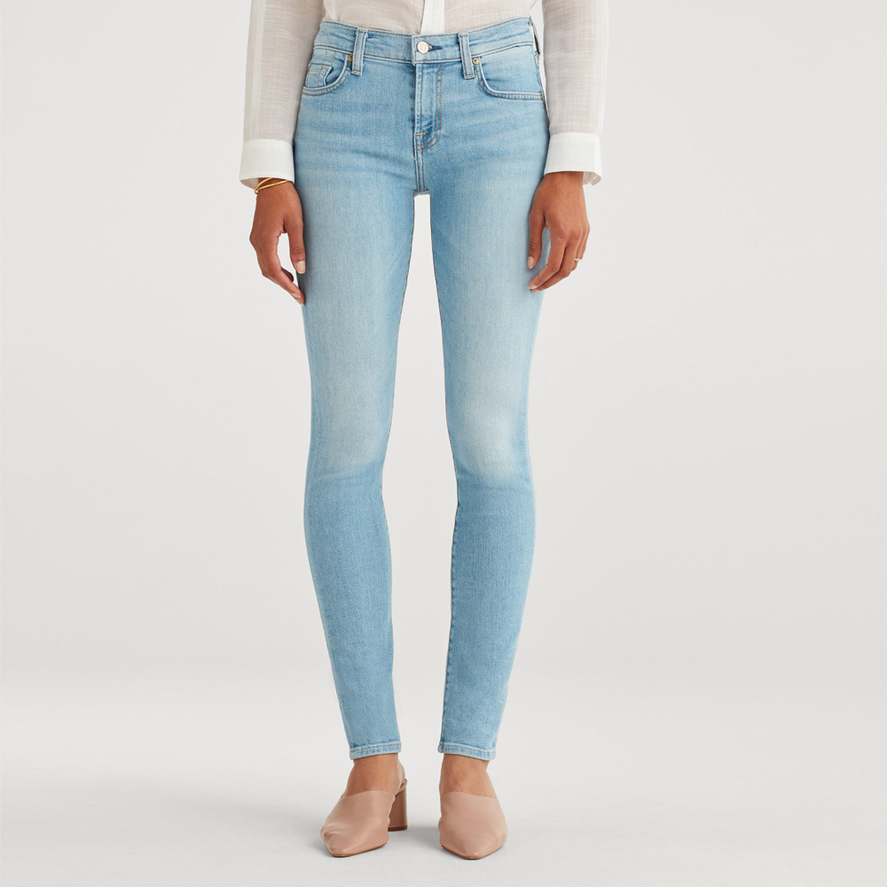 7 For All Mankind The Skinny Mid Rise Skinny Full in Roxy Lights
