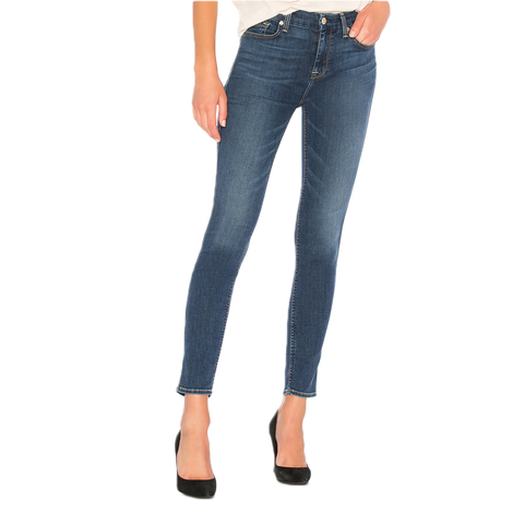 Womens 7 for All Man Kind High Waisted Ankle Skinny in B(air) Echo - Brother's on the Boulevard