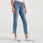 7 For All Mankind Ankle Skinny with Stripe Kick at Hems in Sloane Vintage