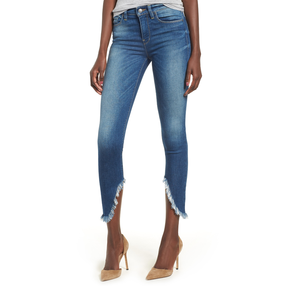 Hudson Jeans Nico Midrise Super Skinny Ankle in Blue Monday