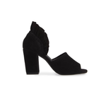 Womens Seychelles Ruffle Back Suede Heel in Black - Brother's on the Boulevard