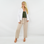 Womens NYLA Front Tie Closure Pant in Khaki - Brother's on the Boulevard