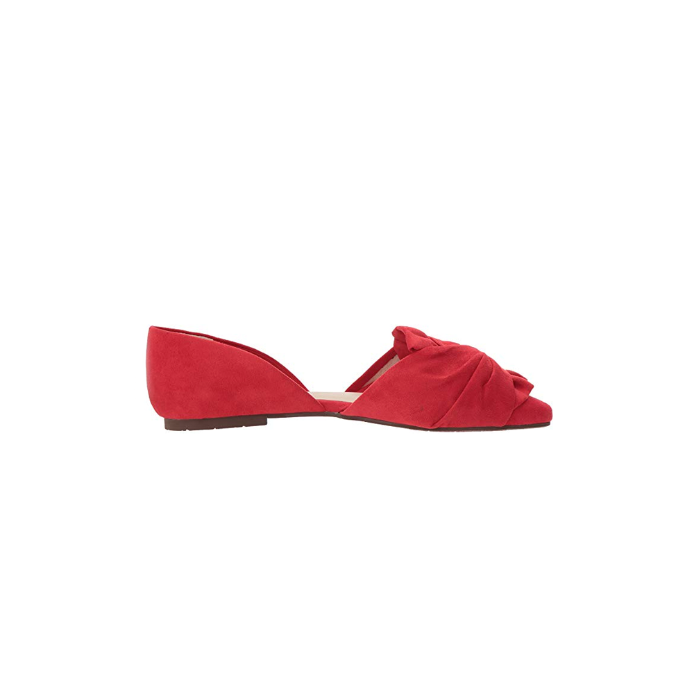 Womens BC Footwear Snow Coned Bow Top Flat Faux in Red - Brother's on the Boulevard