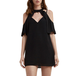 C/meo Short Sleeve No Reason Dress in Black