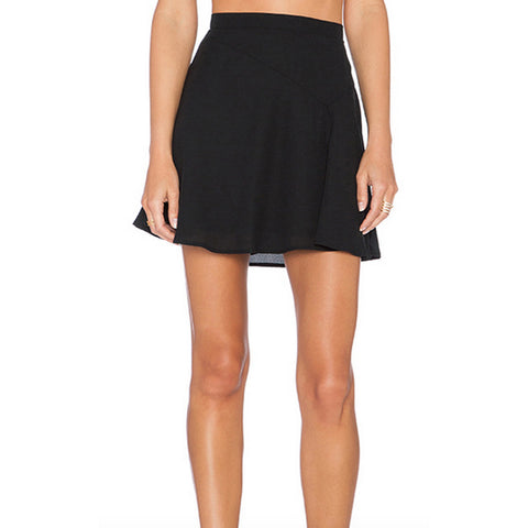 Three Eighty Two Decker Mini Skirt in Black