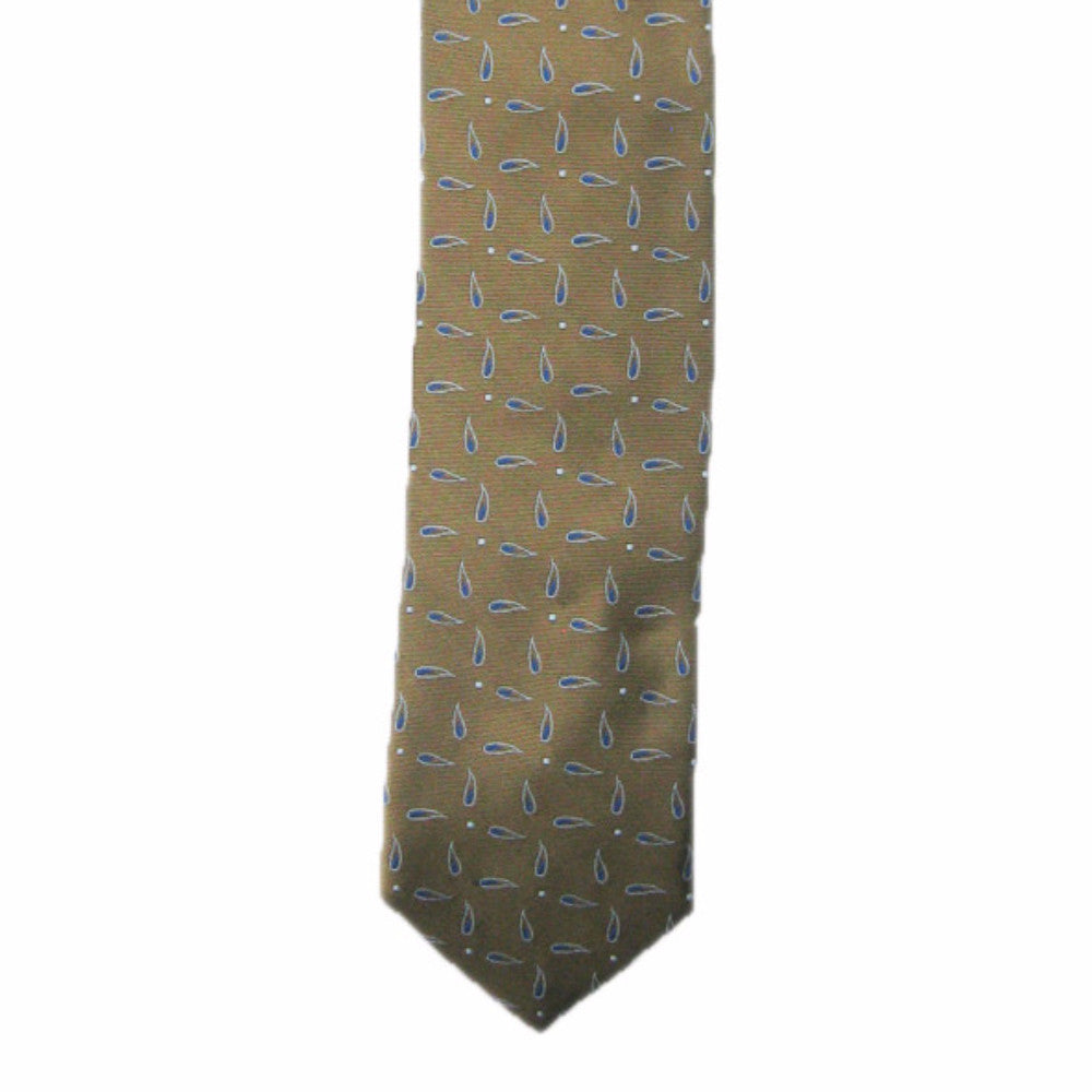 Brother's on the Boulevard Handmade Necktie in Brown/Royal Blue