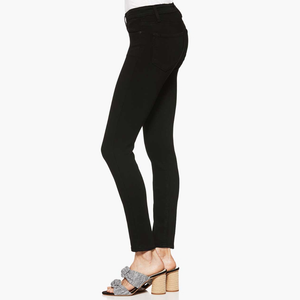 Womens Paige Hoxton High Rise Ultra Skinny Exposed Button in Black Shadow - Brother's on the Boulevard