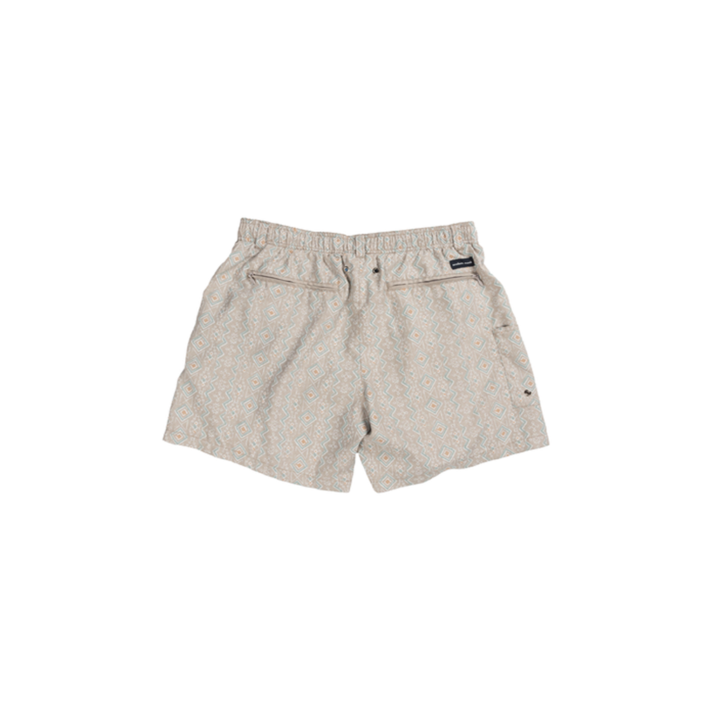 Mens Southern Marsh Toxaway Chambray Dockside Swim Trunk in Burnt Taupe - Brother's on the Boulevard