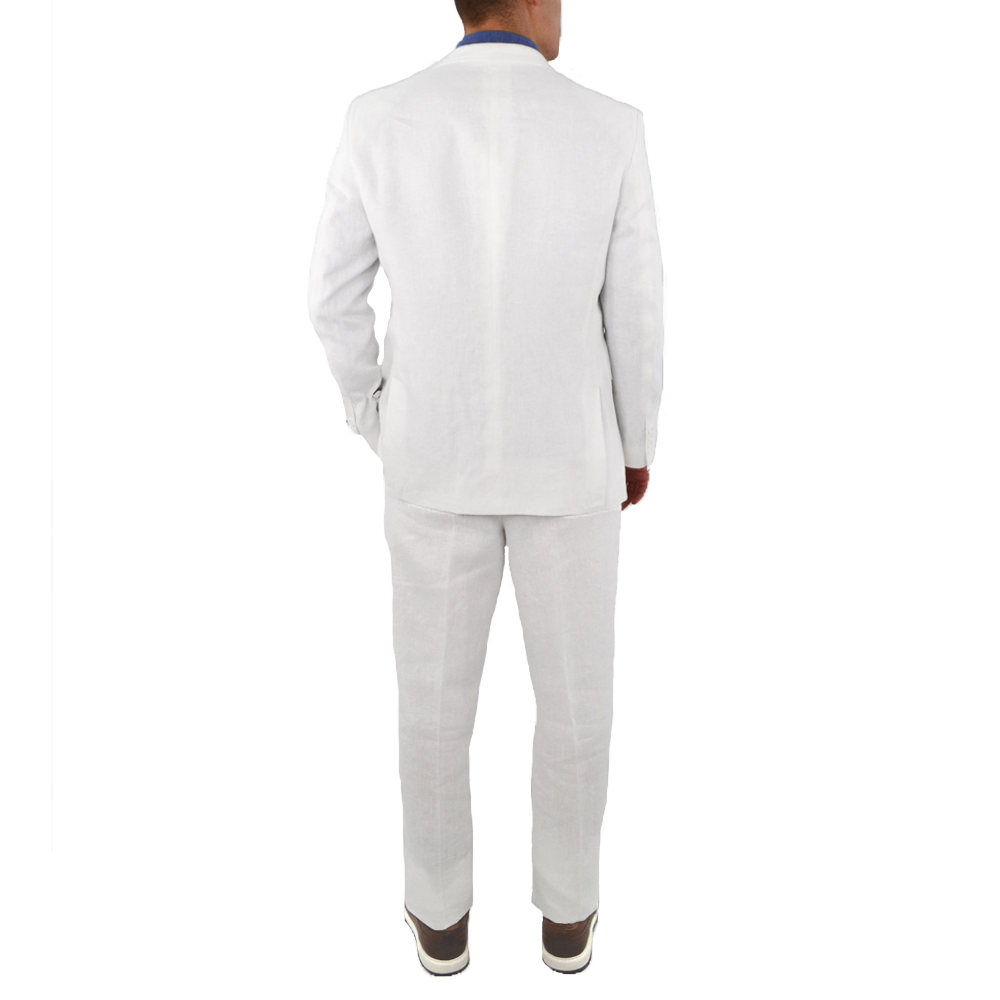 Mens Adolfo Linen Suit in White - Brother's on the Boulevard